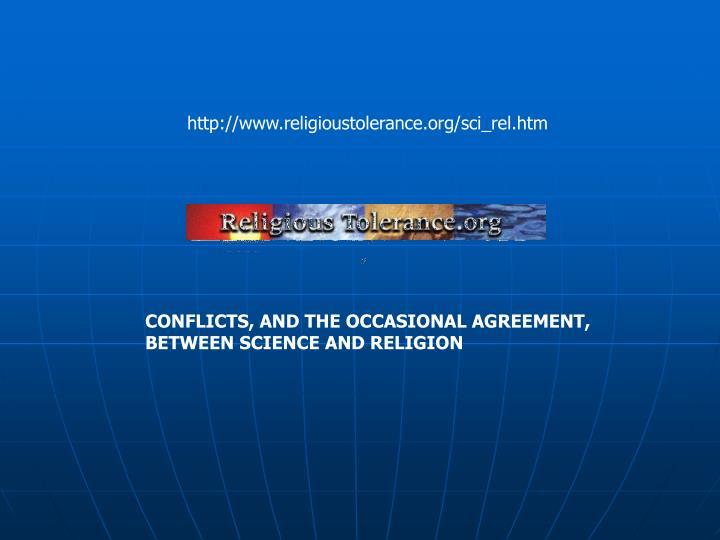 http://www.religioustolerance.org/sci_rel.htm