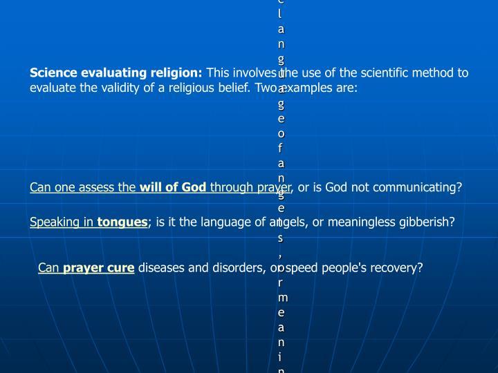 Science evaluating religion: