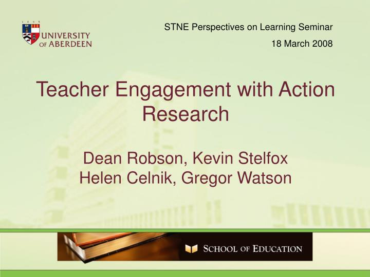 STNE Perspectives on Learning Seminar