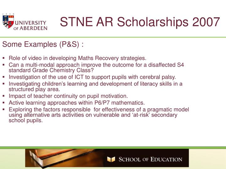 STNE AR Scholarships 2007