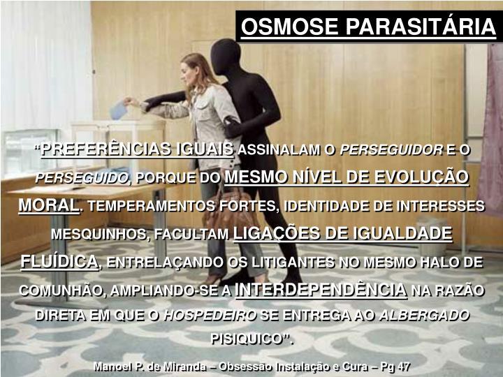 OSMOSE PARASITÁRIA