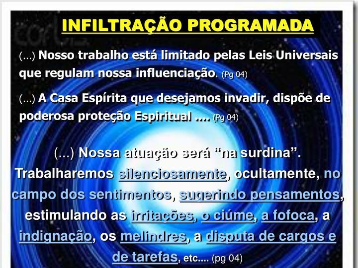 INFILTRAO PROGRAMADA