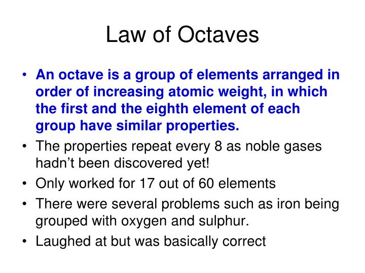 Law of Octaves