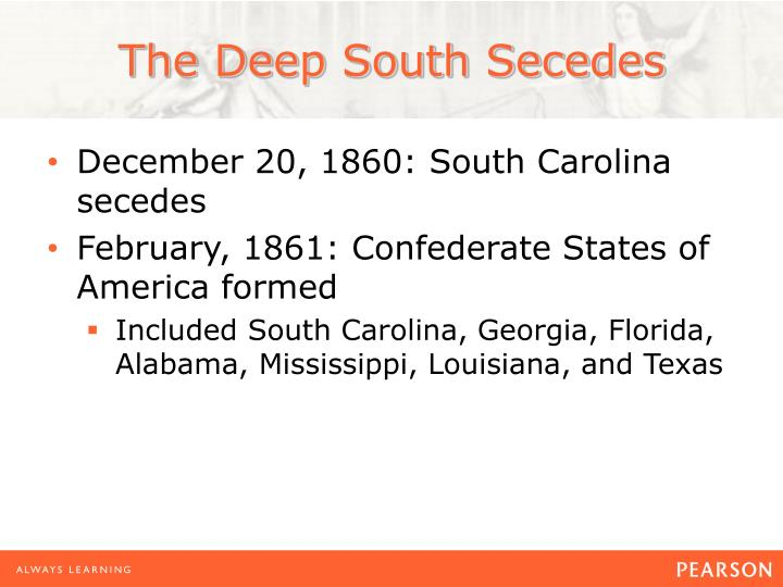 The Deep South Secedes