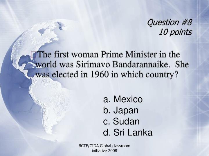 Question #8