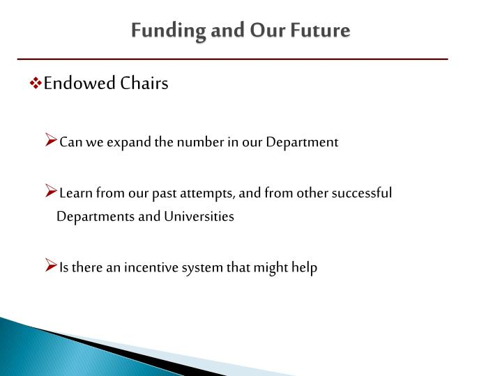 Funding and Our Future