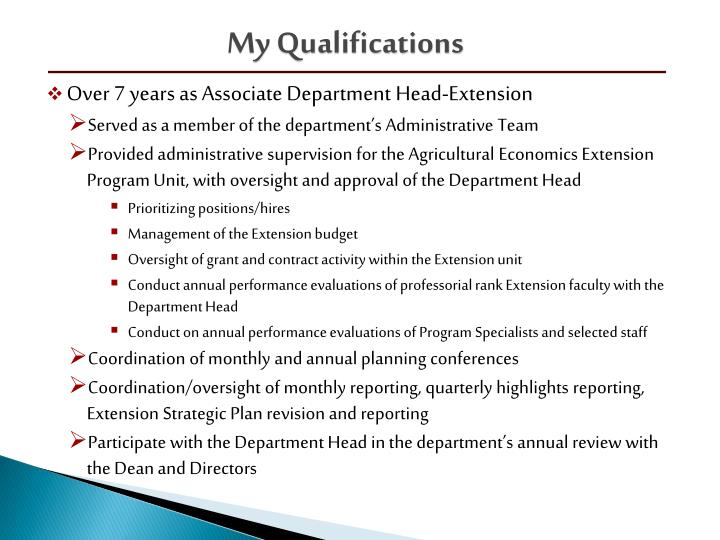 My Qualifications