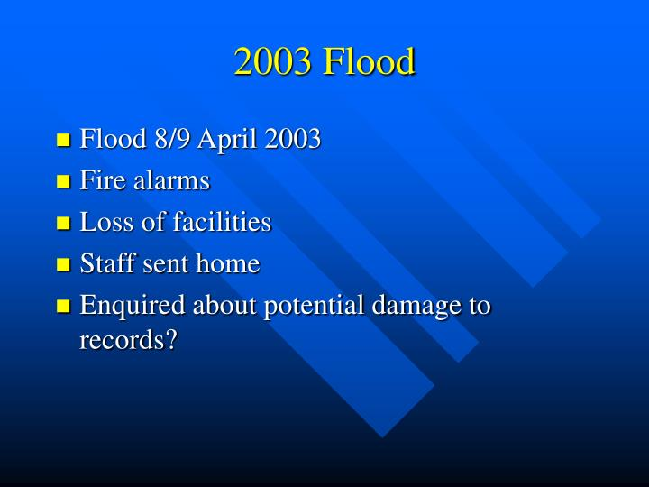 2003 Flood