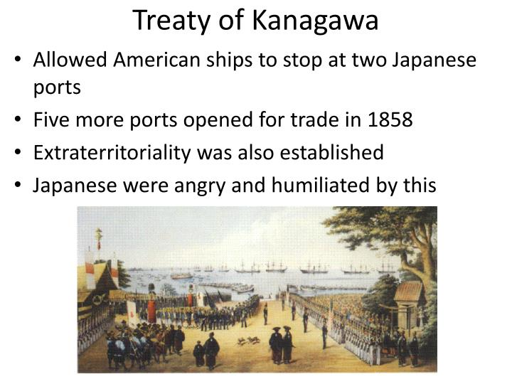 the treaty of kanagawa and the reluctant westernization of japan Start studying chapter 27 ap world history learn  why were the british and french reluctant to help end the taiping  what was the 1858 treaty of kanagawa.