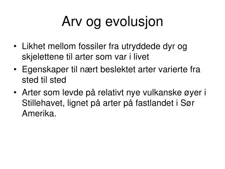 Arv og evolusjon
