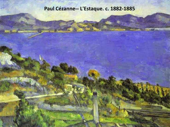 Paul Cézanne-- L'Estaque. c. 1882-1885