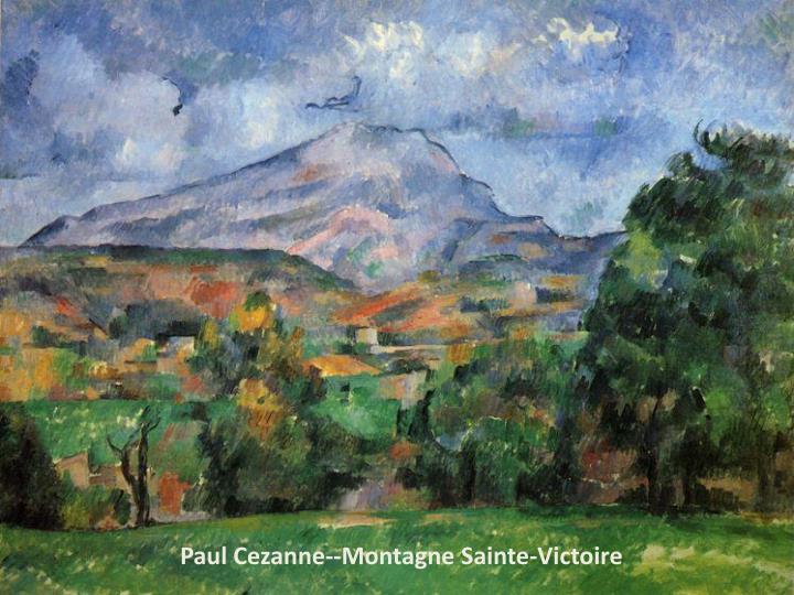 Paul Cezanne--Montagne Sainte-Victoire