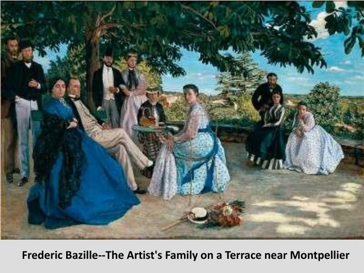 Frederic Bazille--The Artist's Family on a Terrace near Montpellier