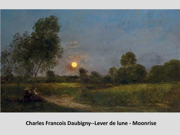Charles Francois Daubigny--Lever de lune - Moonrise
