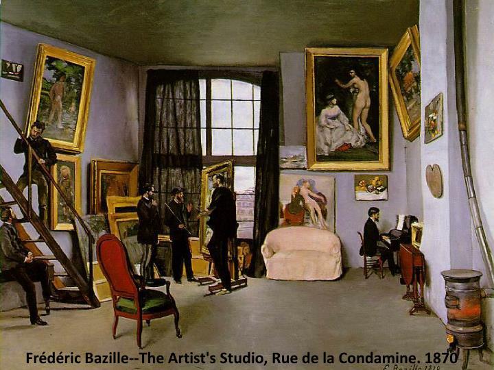Frédéric Bazille--The Artist's Studio, Rue de la Condamine. 1870