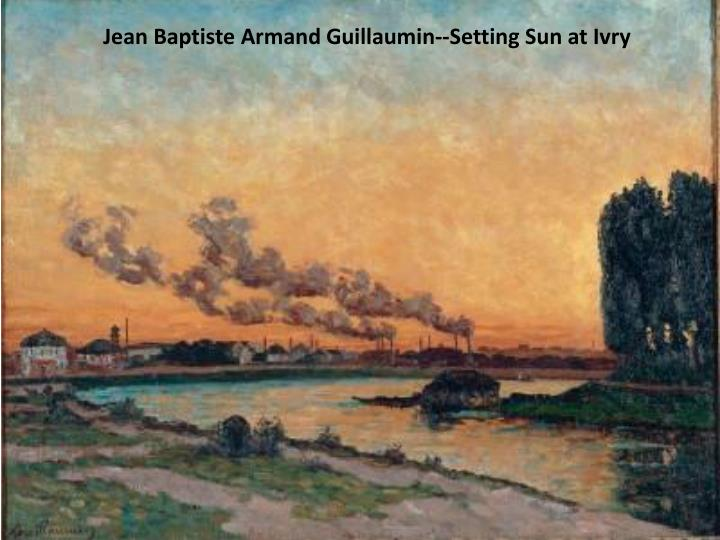 Jean Baptiste Armand Guillaumin--Setting Sun at Ivry