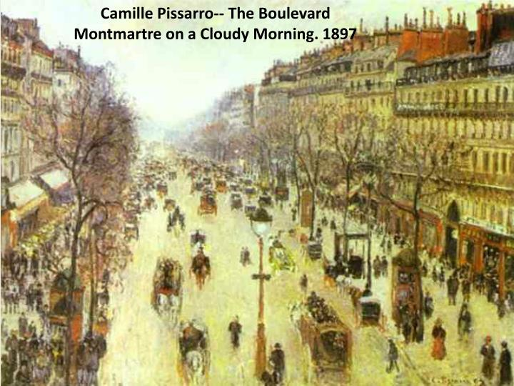Camille Pissarro-- The Boulevard