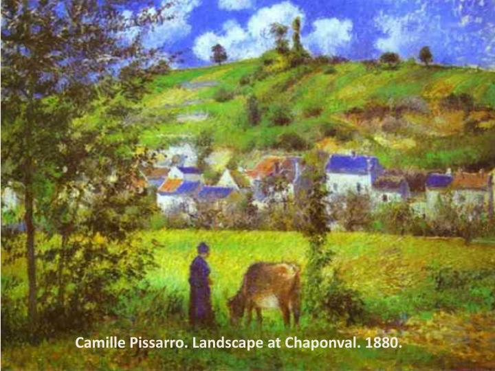 Camille Pissarro. Landscape at Chaponval. 1880.