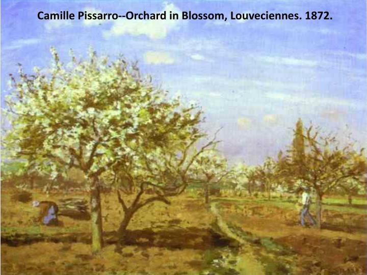 Camille Pissarro--Orchard in Blossom, Louveciennes. 1872.
