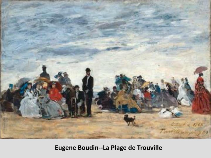 Eugene Boudin--La Plage de Trouville