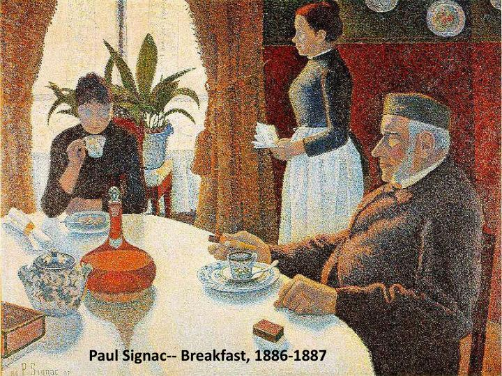 Paul Signac-- Breakfast, 1886-1887