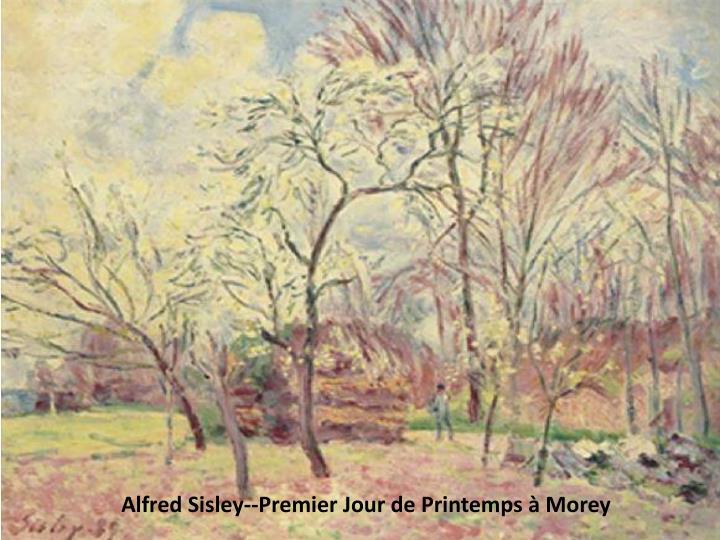 Alfred Sisley--Premier Jour de Printemps à Morey