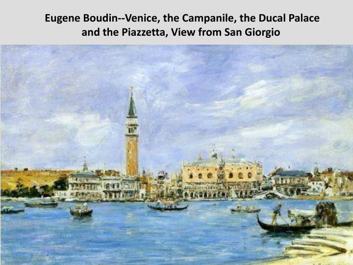 Eugene Boudin--Venice, the Campanile, the Ducal Palace