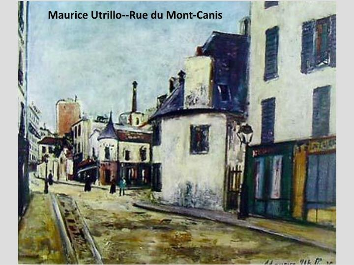 Maurice Utrillo--Rue du Mont-Canis