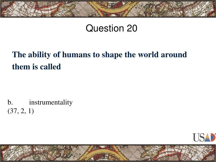 Question 20