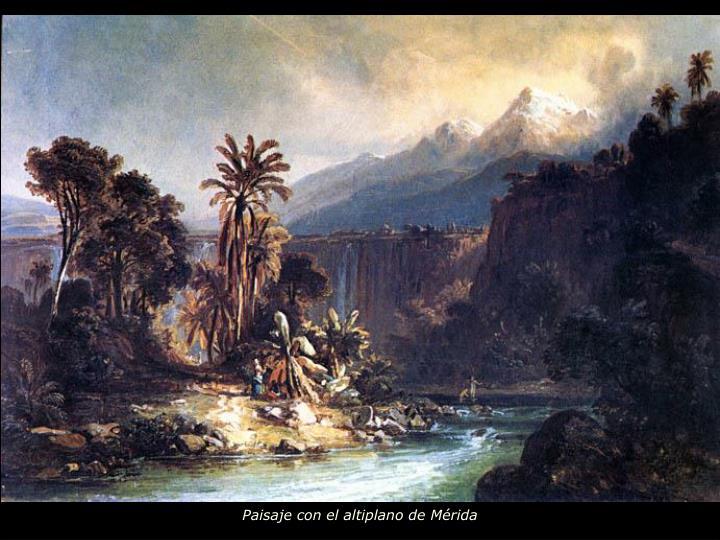 Paisaje con el altiplano de Mérida