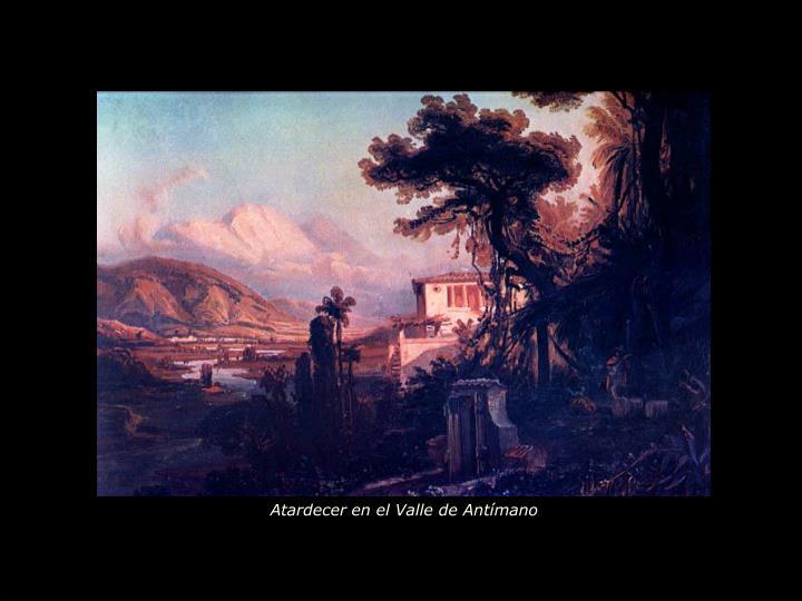 Atardecer en el Valle de Antímano