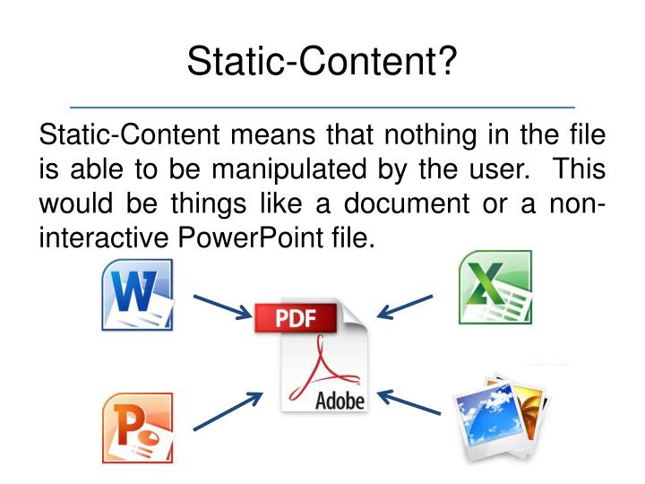 Static-Content?