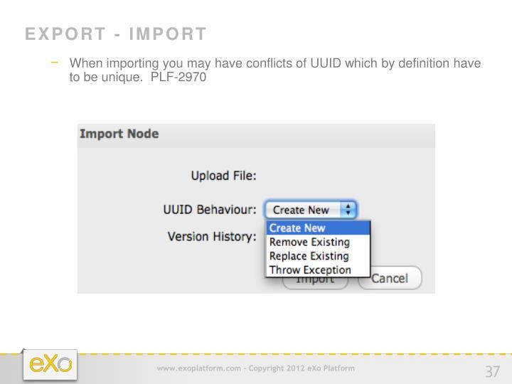 Export - Import