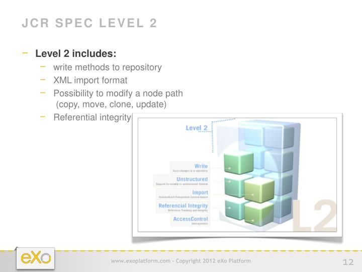 JCR Spec Level 2