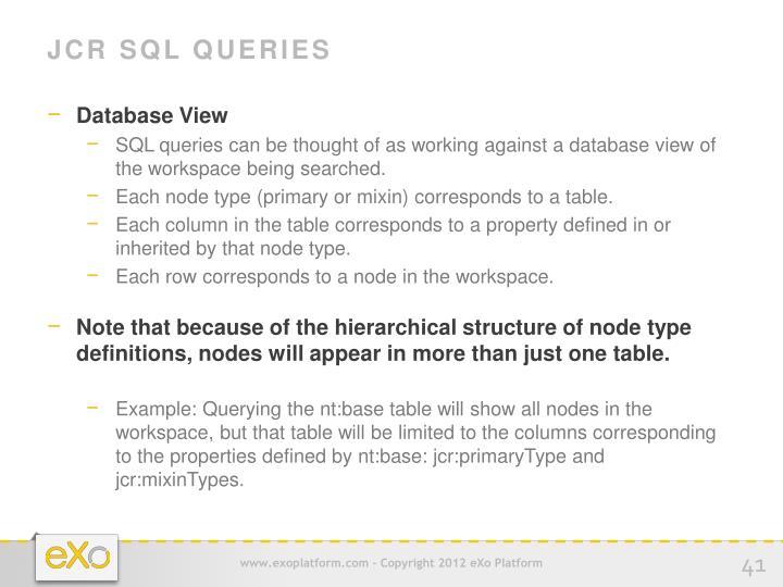 JCR SQL Queries