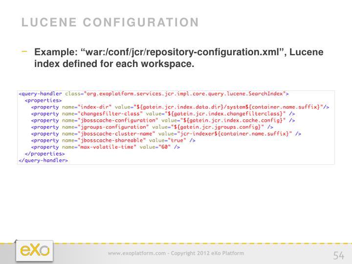 Lucene Configuration