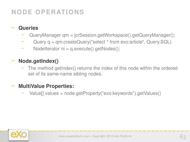 Node Operations