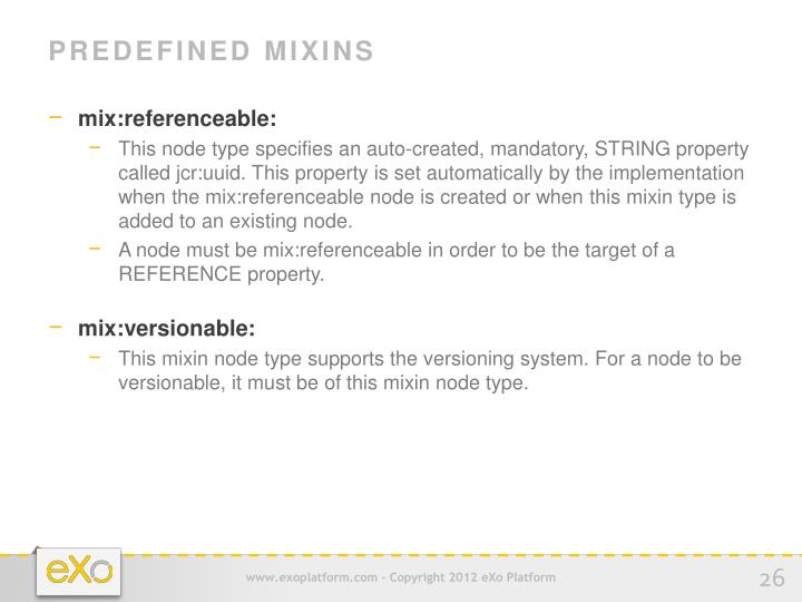Predefined Mixins