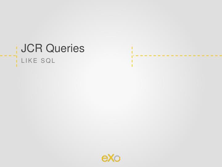 JCR Queries