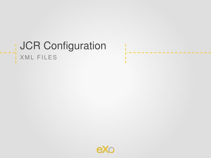 JCR Configuration
