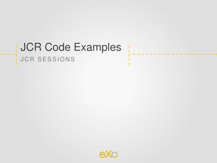 JCR Code Examples