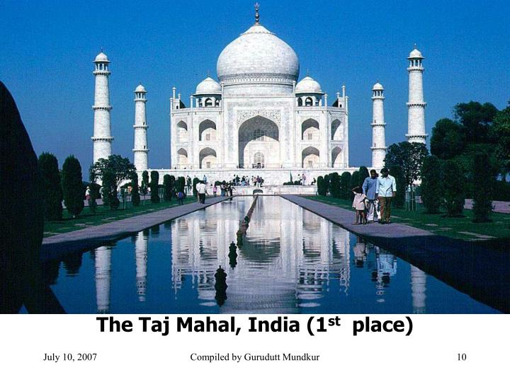 The Taj Mahal, India (1