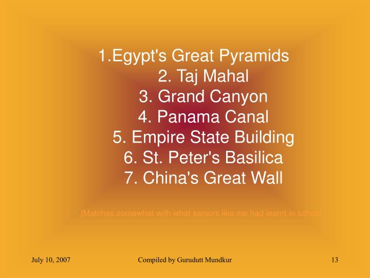 1.Egypt's Great Pyramids