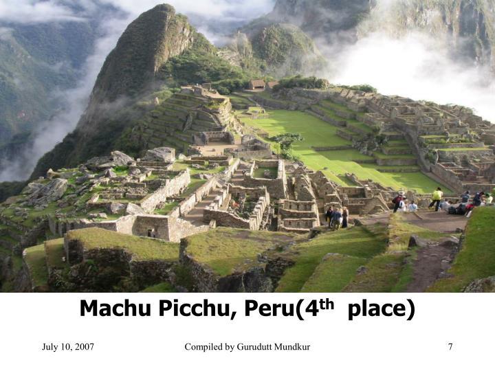 Machu Picchu, Peru(4