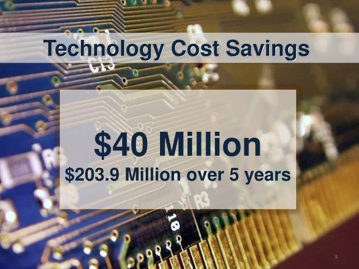 Technology Cost Savings