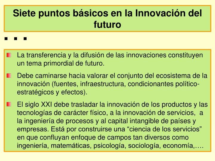 Siete puntos básicos en la Innovación del futuro