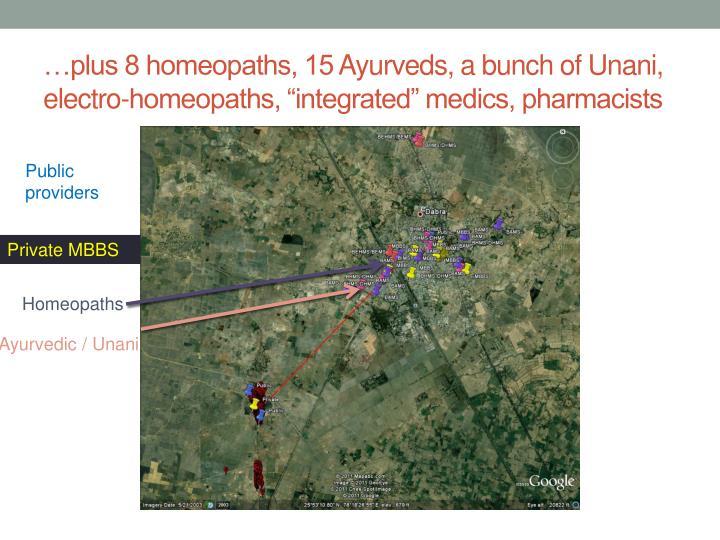 …plus 8 homeopaths, 15