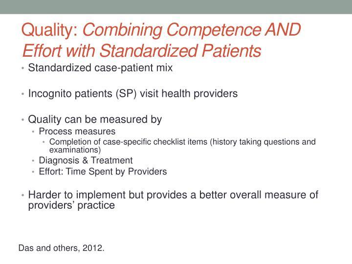 Standardized case-patient mix