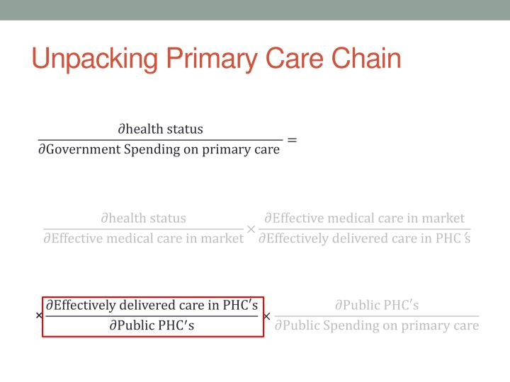 Unpacking Primary Care Chain