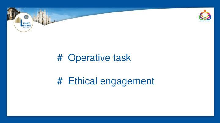 #  Operative task
